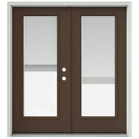 inswing patio door jeld wen 72 in x 80 in chocolate prehung left