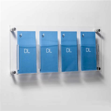 dl leaflet holders 2 4 acrylic pockets aluminium