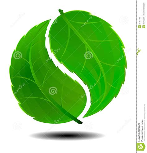 green plans yin yang green symbol logo stock vector image of growth