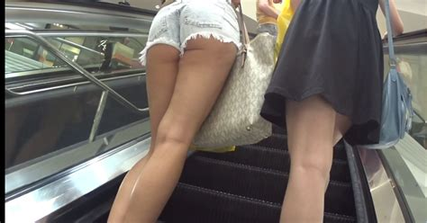 up shorts compilation upshort on escalator candid girl videos hd