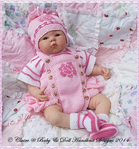 reborn baby knits frilled motif romper set 16 22 doll preemie 3m