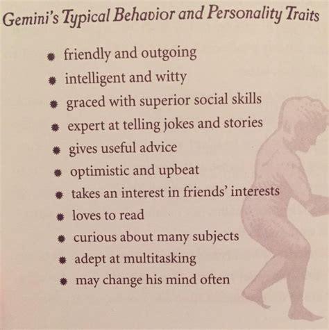 gemini traits and characteristics www imgkid com the