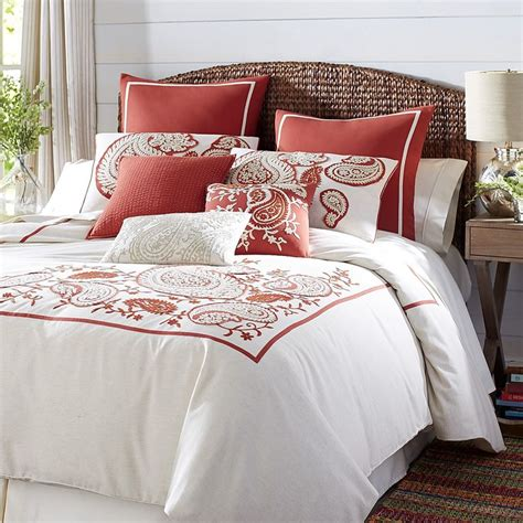 red paisley bedding natural red rambagh paisley duvet cover sham cotton