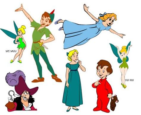 peter pan characters | free svg files and fonts | pinterest