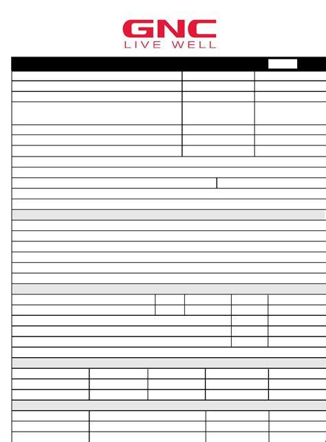 printable job application for gnc woolworths online job application form images form