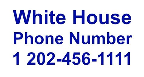 House Phone Number Lookup The White House Phone Number Contact Info Location