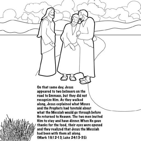 coloring page of jesus on the road to emmaus 1000 images about christian easter ideas for on