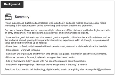 Resume Sample Accomplishments Examples by 4 Powerful Ways To Write A Killer Linkedin Summary Careerly