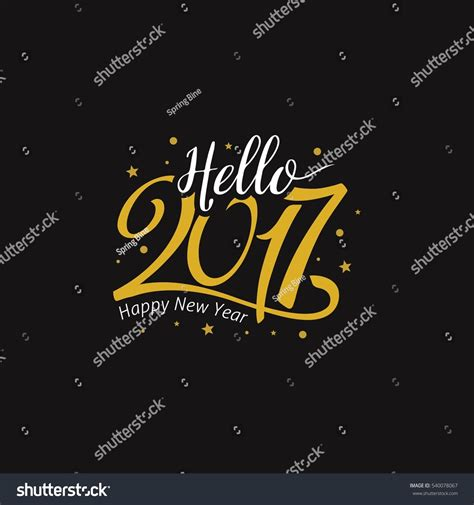 hello new year images hello new year 2017 golden typography stock vector