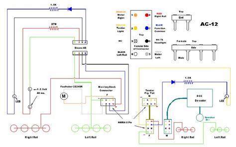 model railroad june   cab  dcc wiring diagrams