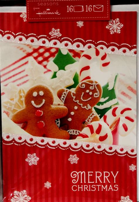 hallmark seasons merry christmas cards envelopes set scrapbookfare