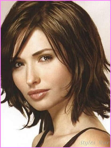 cute easy hairstyles for medium thin hair cute layered haircuts for medium thick hair stylesstar com