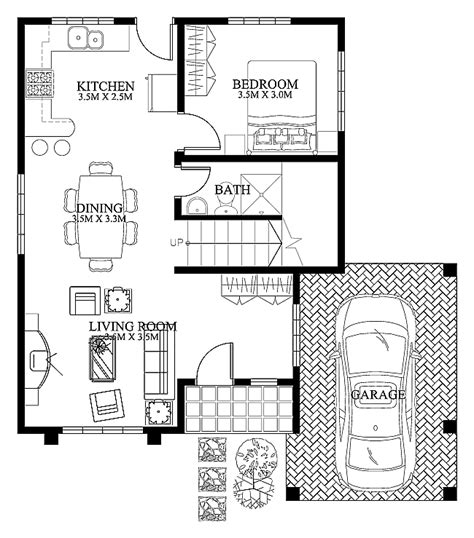 Modern Ground Floor House Plans | mhd 2012004 pinoy eplans modern house designs small