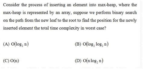 Binary Search Does Comparisons In The Worst Max Heap With Binary Search Gate Overflow
