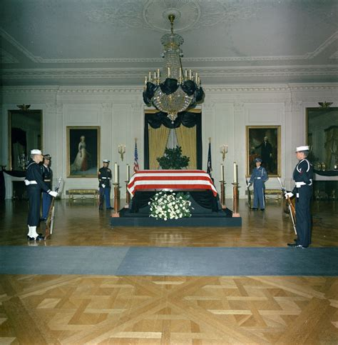 the east room state funeral of president kennedy lying in repose in the east room of the white house f