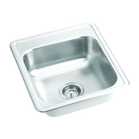shop elkay dayton stainless steel single basin residential