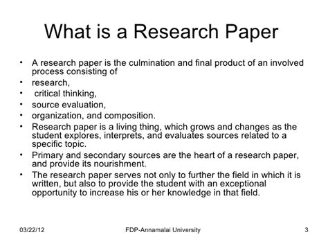 what is the purpose of a research paper how to write a research paper