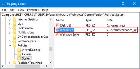 set  default background wallpaper  windows  desktop