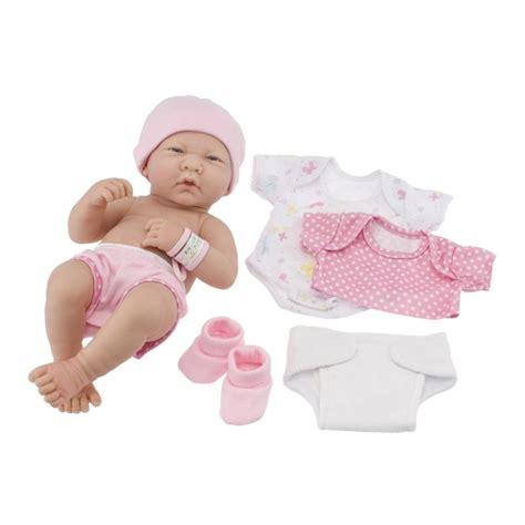 Seprei Set Microtex Baby Pink by Lalka Bobas Z Ubrankami Ubieranie Lalek