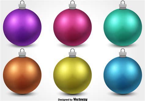 colorful christmas ornament vectors free vector download