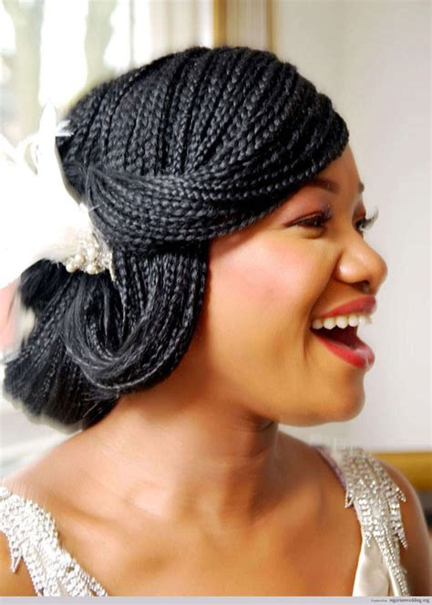 Wedding Hairstyles For Box Braids by 50 Best Wedding Hairstyles For Black 2018 Cruckers