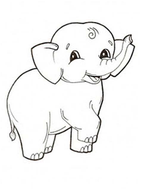 Elephant Coloring Page by Free Printable Elephant Coloring Pages For