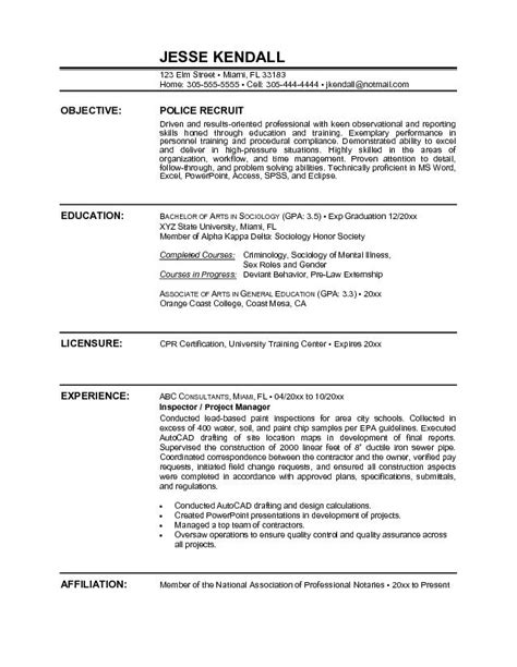 100 police officer resume template free military police