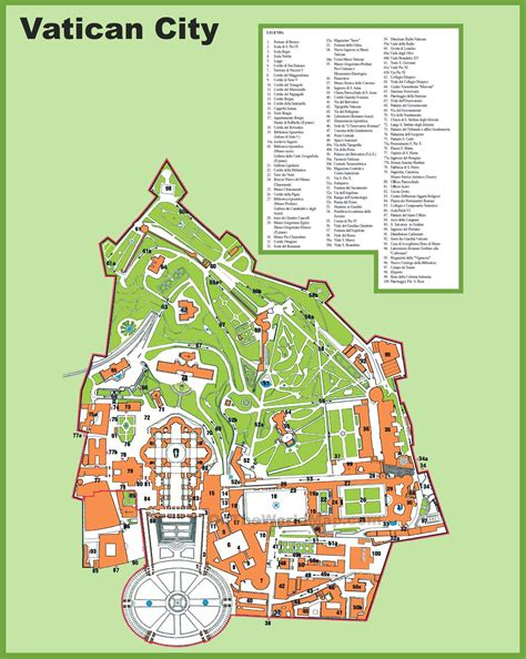 vatican city map in world vatican city tourist attractions map
