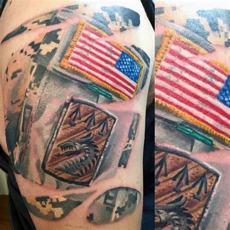 tattoo camo colors 90 army tattoos for men manly armed forces design ideas