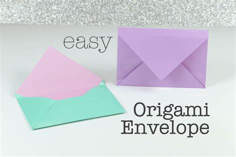 Standard Origami Paper Size - how to make an easy origami envelope
