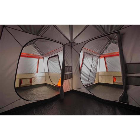 ozark trail 12 person instant cabin tent with screen room ozark trail 12 person 3 room l shaped instant cabin tent walmart for ozark trail 10 person 3