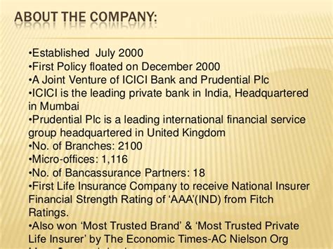 icici bank policy icici prudential insurance ppt