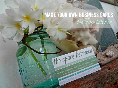 how to make your own card how to make your own business cards