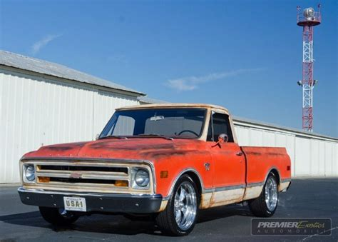 Wheels 68 Chevy Orange 1968 chevrolet c10 orange white exterior painted to