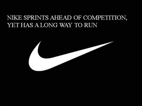 28633214 Nike Sprints Ahead Of Competition But Still Has A Long Wa Authorstream Nike Powerpoint Template