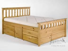 Pine Platform Bed With Storage Verona Ferrara Storage Double Antique Pine Bed Frame