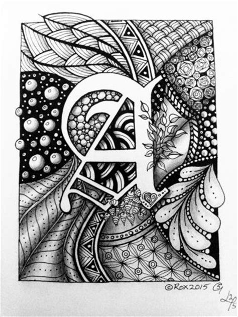 free printable zentangle letters zentangle monogram letters and letters on pinterest