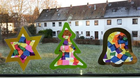 Fensterbild Weihnachten Kinder Basteln by Weihnachten Fensterbilder Aus Transparentpapier Der