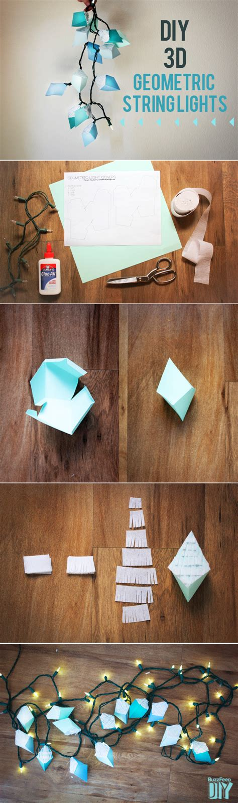How To Make Decorations For Your Room Out Of Paper - 33 awesome diy string light ideas diy projects for