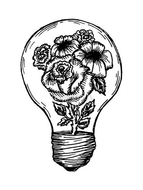 'flower lightbulb' Sticker by Meagan Hein | Marquesan