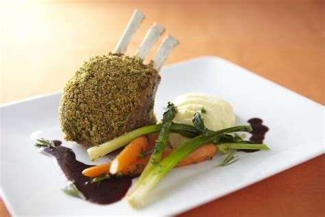 Herb Crusted Rack Of With Wine Jus herb crusted rack of with olive mash buttered