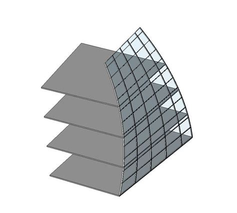 curved curtain wall revit revitcity com parallel curtain wall grid on curve