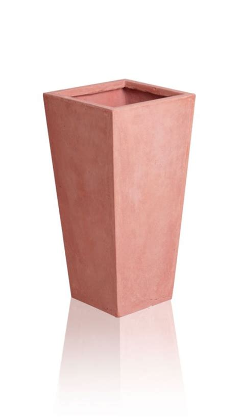 Square Terracotta Planters by Terracotta Fibrecotta Flared Square Planters Mixed