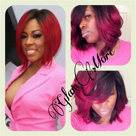 k michelle short red hair k michelle red hair