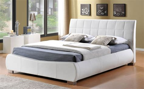 super king bed dorado white leather super king size bed