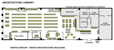 floor plan of a library school of architecture and engineering technology