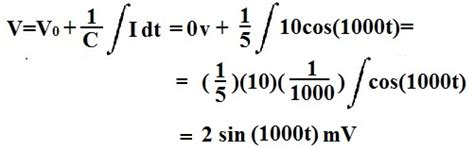 voltage of capacitor formula voltage equation for capacitor images
