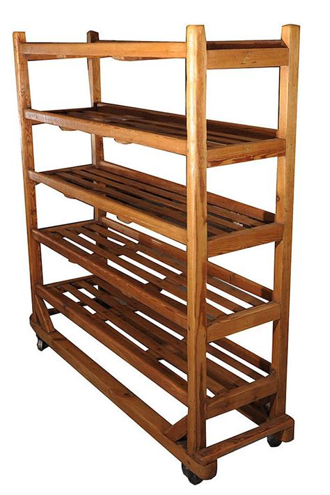 Rolling Baking Rack by Rolling Trolley Display Cart With Slatted Shelves Of
