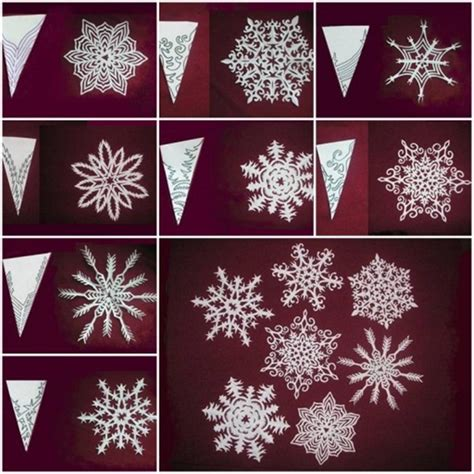 Make Snowflake Paper - wonderful diy pretty paper snowflake mobile from template