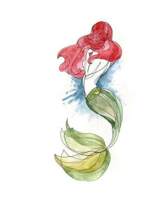 ariel the little mermaid tattoo designs watercolor mermaid idea